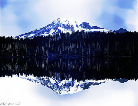 Vintage Mount Rainier from Reflection Lake early 1900 era... by Eddie Eastwood