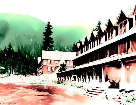 Vintage Mount Rainier National Park Inn early 1900 era... by Eddie Eastwood