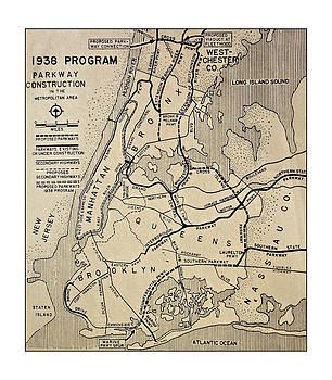 Vintage Newspaper Map by Susan Leggett