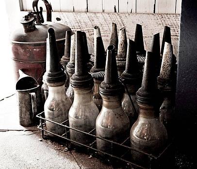 Rebecca Brittain - Vintage Oil Bottles