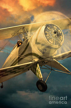 Jill Battaglia - Vintage Plane in Flight