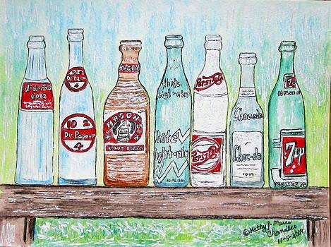 Vintage Pop Bottles by Kathy Marrs Chandler