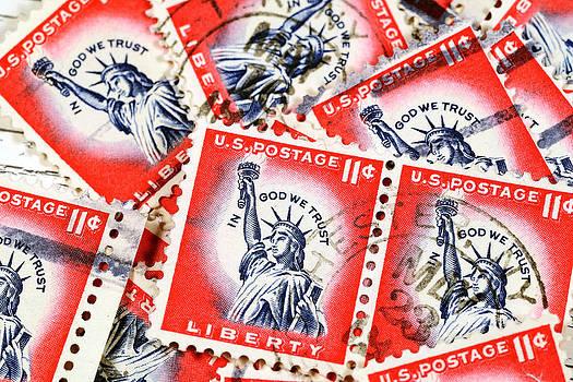 Vintage postage stamps by Dick Wood