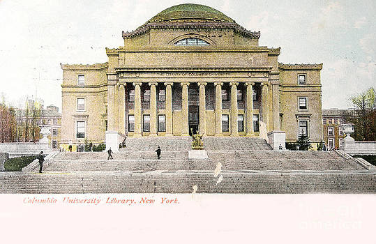 Patricia Hofmeester - Vintage postcard of Library of University of Columbia