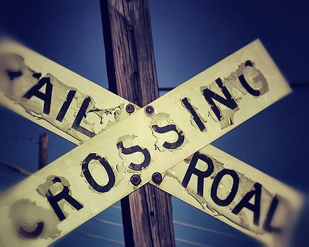 Vintage Railroad Crossing by The Art With A Heart By Charlotte Phillips