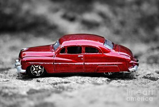 Vintage red car by Bobby Mandal
