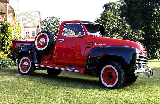 Venetia Featherstone-Witty - Vintage Red Chevy Pick Up Truck