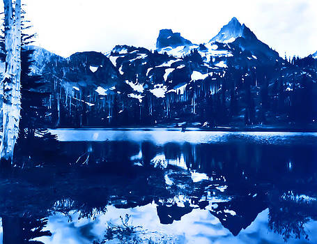 Vintage Reflection Lake  with ripples Early 1900 era... by Eddie Eastwood