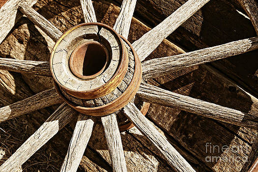 Vintage Rustic Wagon Wheel 3 by Lincoln Rogers