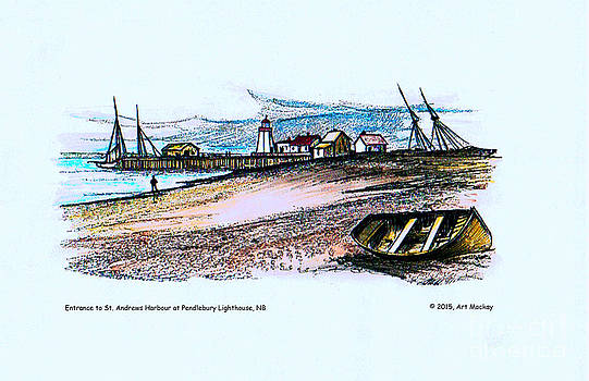 Art  MacKay - Vintage St Andrews at Pendlebury Lighthouse