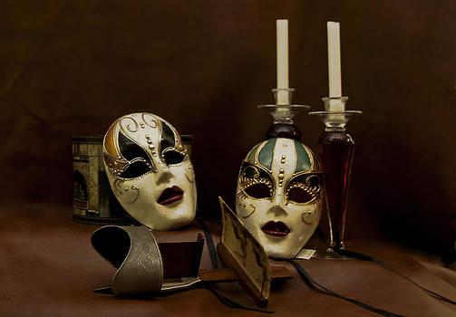 Vintage Still Life of Venitian Mask by Debra Crank