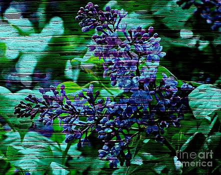 Vintage Textured Painted Lilac by Judy Palkimas