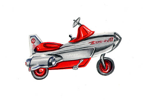 Vintage Toy Pedal Airplane by Elaine Hodges