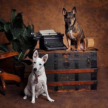 Rebecca Brittain - Vintage Typewriter with Working Dogs