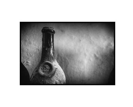 Vintage Wine Bottle by Kyle V Smith