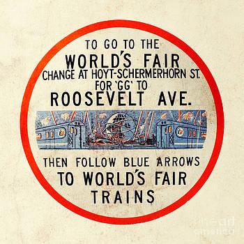 Vintage Worlds Fair New York Subway Sign by Nishanth Gopinathan