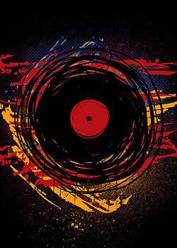Vinyl Record Retro Grunge Paint by Denis Marsili