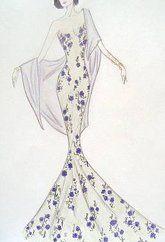 Violet Trellis Gown by Christine Corretti