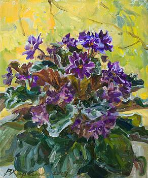 Violets  autumn by Victoria Kharchenko