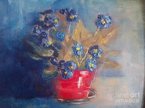 Violets by Bozena Chmielewska