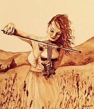 Violin Girl by Julee Nicklaus