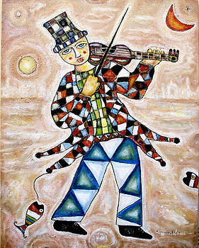 Violinista by Angelo Mazzoleni