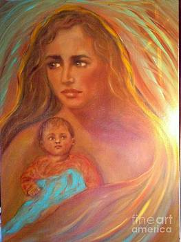 Virgin Mary and Baby Jesus  by Suzanne Reynolds