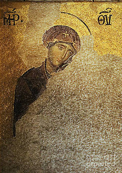 Virgin Mary-Detail of Deesis Mosaic  Hagia Sophia-Day of Judgement by Urft Valley Art