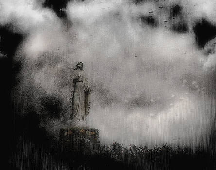 Virgin mary in the rain by Allen Beilschmidt