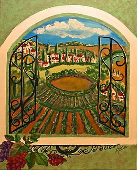 Vista dalla campagna Toscana by Dina Jacobs