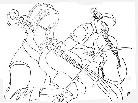 Visual Ode to Steve Reich Cellos by Allen Forrest