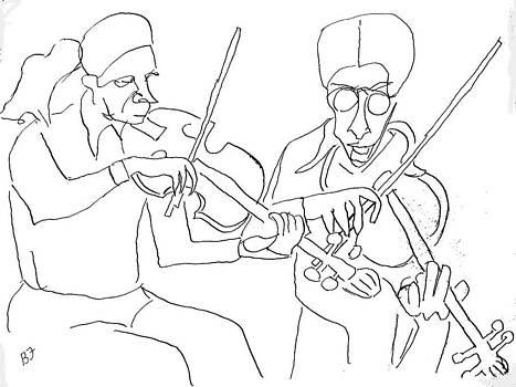 Visual Ode to Steve Reich Violas by Allen Forrest