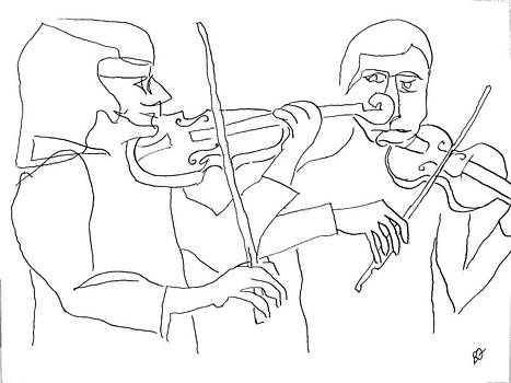 Visual Ode to Steve Reich Violins by Allen Forrest