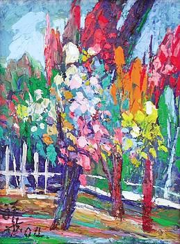 Vivid trees by Siang Hua Wang