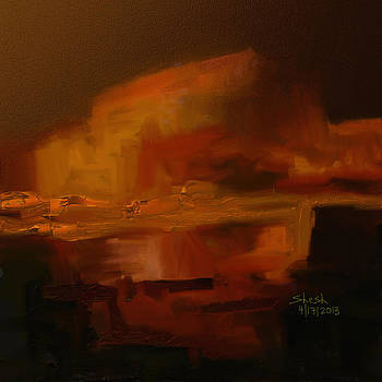 Volcanic Glow by Shesh Tantry