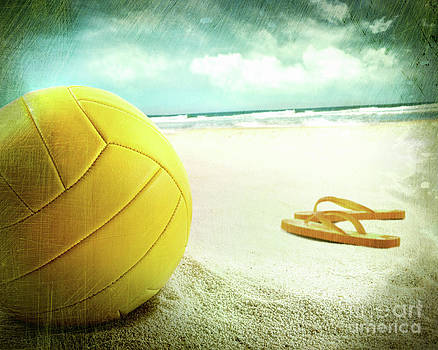 Sandra Cunningham - Volleyball in the sand with sandals