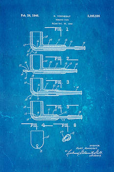 Ian Monk - Vonnegut Tobacco Pipe Patent Art 1946 Blueprint