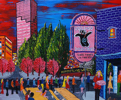 Voodoo Doughnuts Sign #5 by Portland Art Creations
