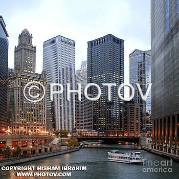 Wacker Drive and Chicago River -  Limited Edition by Hisham Ibrahim
