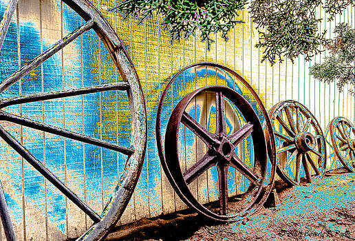 Wagon Wheel Art by Beverly Parks