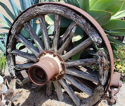 Wagon Wheel Landscape by Laura Paine