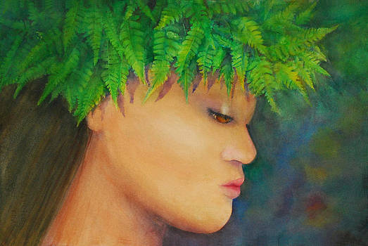 Wahine in Haku 2 by Luane Penarosa