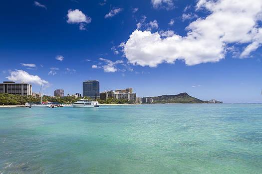 Waikiki Beach Diamond Head Honolulu Oahu Hawaii by Jianghui Zhang
