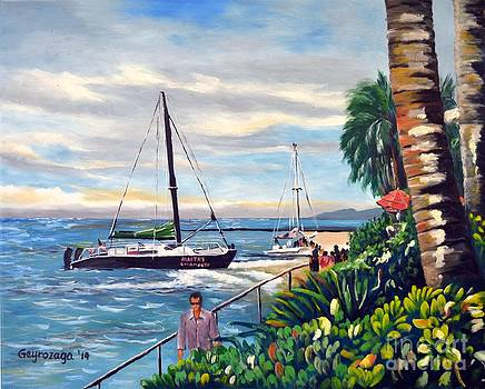 Waikiki Beach by Larry Geyrozaga