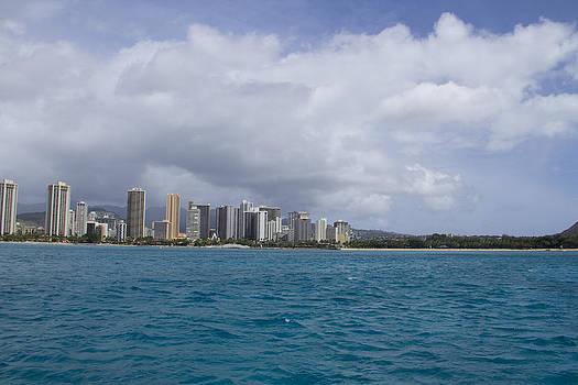 Waikiki from Ocean by Ashlee Meyer