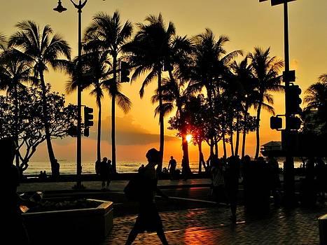 Waikiki Sunset by Julie Shiroma