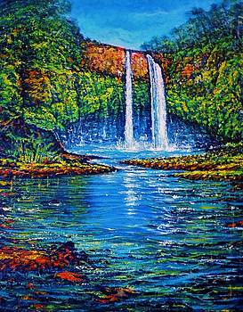 Wailua Falls Kauai by Joseph   Ruff