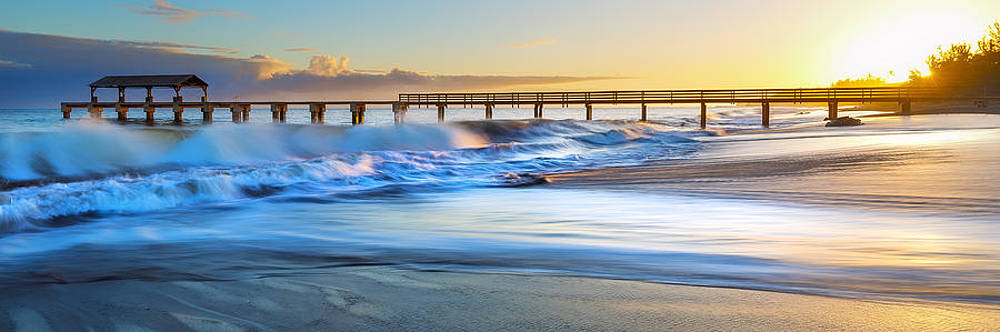 Waimea Pier Sunset by Hawaii  Fine Art Photography