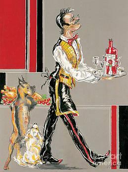 Waiter and Dog by Barbara Black