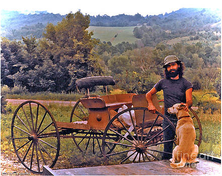 Waiting For a Lift on the Old Buckboard by Patricia Keller